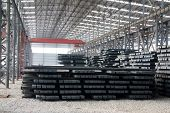 Steel Ingot In Enterprise Warehouse Workshop