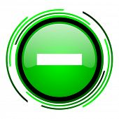 minus green circle glossy icon