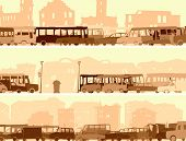 Horizontal Banner With A Lot Of Cars,bus On Street.