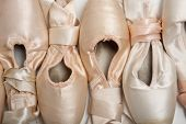 stock photo of ballet shoes  - A group of ballet shoes or slippers - JPG