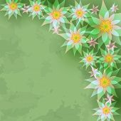 Vintage Abstract Background With Flowers