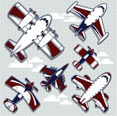 airplanes cartoon for childish decoration