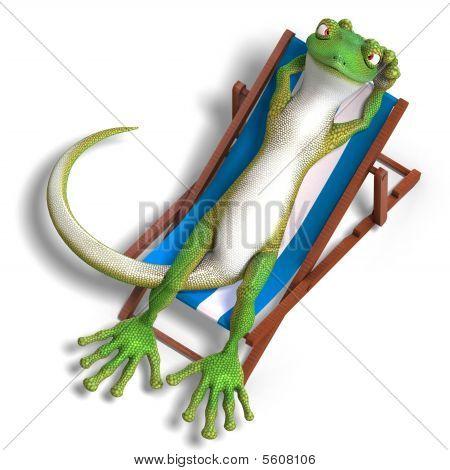Постер, плакат: Gecko смешные мультфильмы, холст на подрамнике