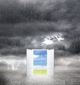 Door From Bad Weather