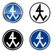 Bricklayer �¢�?�? Traditional Craftsmen's Guild Vector Symbol, four variations