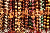 Colorful beads with Tau Cross