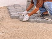 Worker Making Pavement