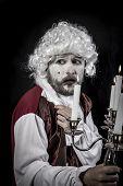 Eighteen century, gentleman rococo era wig