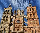 Detalhe Da Fachada Da Catedral De Astorga