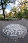 Strawberry Fields, memorial to John Lennon, Central Park New York City