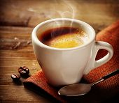 foto of hot coffee  - Coffee - JPG