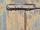 Metal Hinge Part With Grunge Rust and Grime 2