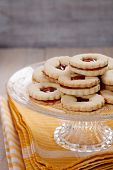 stock photo of linzer  - Christmas baking - JPG