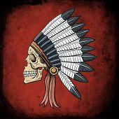 stock photo of indian chief  - Indian Dead Man - JPG