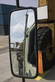 Big Truck Mirror Reflection