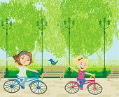 Children Biking In The Park