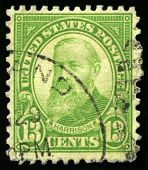Vintage Us Postage Stamp Of President Harrison