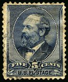 Vintage Us Postage Stamp Of President Garfield (1880S)