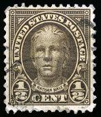 Vintage Us Postage Stamp Of Nathan Hale (1922)