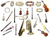 pic of wind instrument  - The image of instruments isolated under a white background - JPG