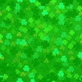 illustration of a seamless shamrock pattern, eps10
