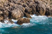 Ionian Sea near Paleokastritsa on Corfu Island in Greece