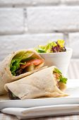 picture of shawarma  - kafta shawarma chicken pita wrap roll sandwich traditional arab mid east food - JPG