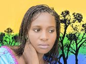 Beautiful young African woman