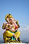 stock photo of ganesh  - Ganesh Architecture deserves to be treated within the beautiful temple - JPG