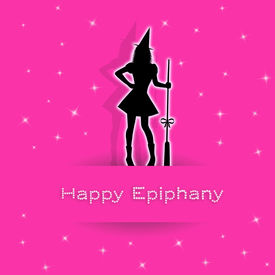 pic of epiphany  - an illustration of Epiphany with broom for Christmas - JPG