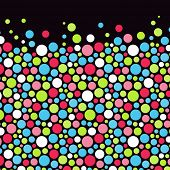 Abstract background with color circles. Vector illustration.