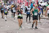 Runners Pass Through Pinetown During Comrades Marathon