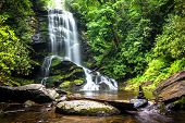 picture of waterfalls  - Upper Catabwa Falls is a 50 - JPG