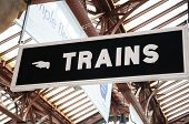 To Trains sign, Moore Street Railway Station