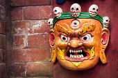 Bhairab Mask At Nepal Market