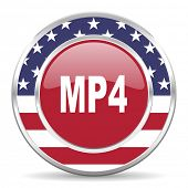 mp4 american icon, usa flag