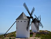 Old windmills in La Mancha