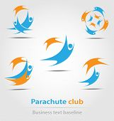 Parachute And Parachute Club Business Icon