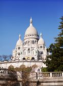 The Basilica of Sacre-Coeur Montmartre. Paris.