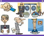 stock photo of prime-minister  - Illustration Set of Humorous Cartoon Concepts or Ideas and Metaphors with Funny Characters - JPG