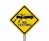 No Texting While Driving Sign