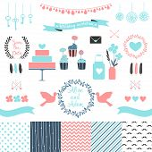 foto of chevron  - Set for wedding design. 