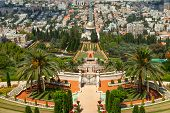 Bahai temple and gardens in Haifa