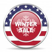 winter sale american icon, usa flag