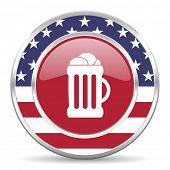 beer american icon, usa flag