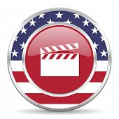video american icon, usa flag