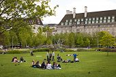 LONDON, UK - MAY 14, 2014: Jubilee park on south bank