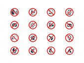 Prohibition icons