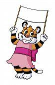 Kitten with banner