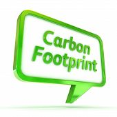 foto of carbon-footprint  - A Colourful 3d Rendered Concept Illustration showing  - JPG